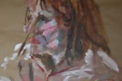 Caroline - 2006 - acrylic on brown paper