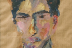 Tim - 2006 - acrylic on brown paper