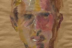 Richard - 2006 - acrylic on brown paper