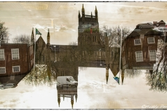 In Camera Double Exposure - Worcester Cathedral