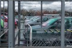 Supermarket Car Park in the Rain