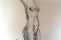 5 minute life study - 2010 - charcoal on paper