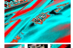 Red & Turquoise Abstract