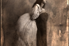 Pre-Raphaelite Interpretation - digital wet collodion plate
