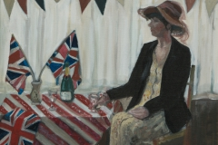 Tea Party Celebration - oil on canvas