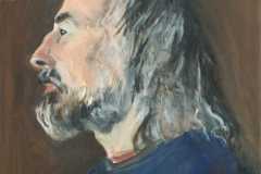 Tim in Profile - oil on canvas