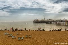 Brighton Beach on a Summer's Day